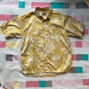 Men's Royal Robbins fern s/s button down shirt L
